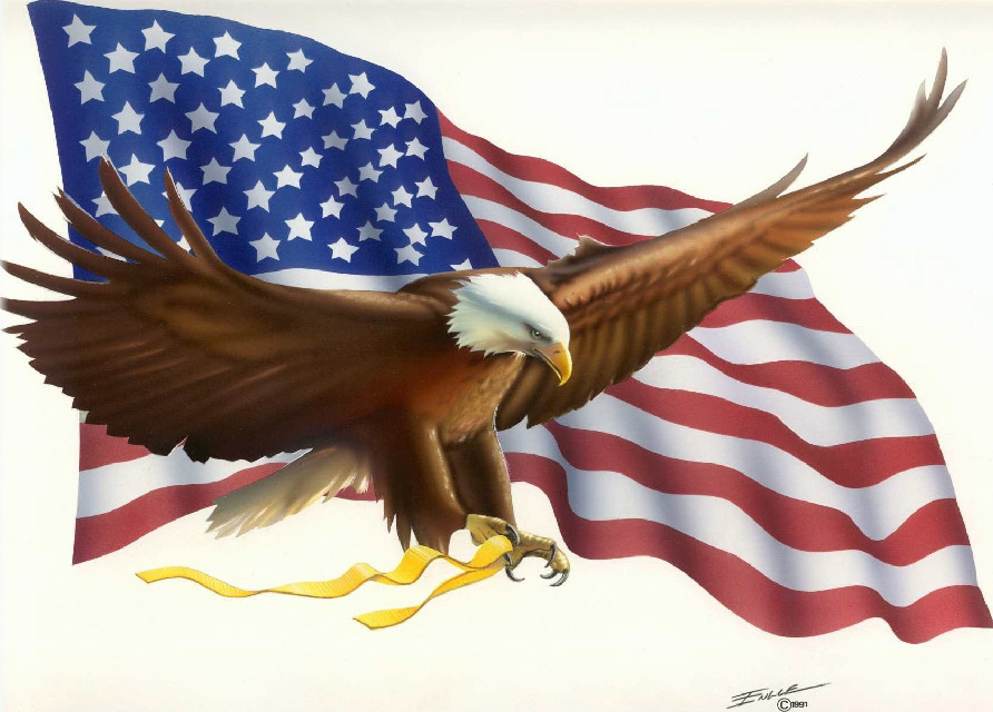 free animated clip art american flag - photo #15