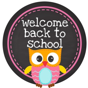 pink round owl welcome back