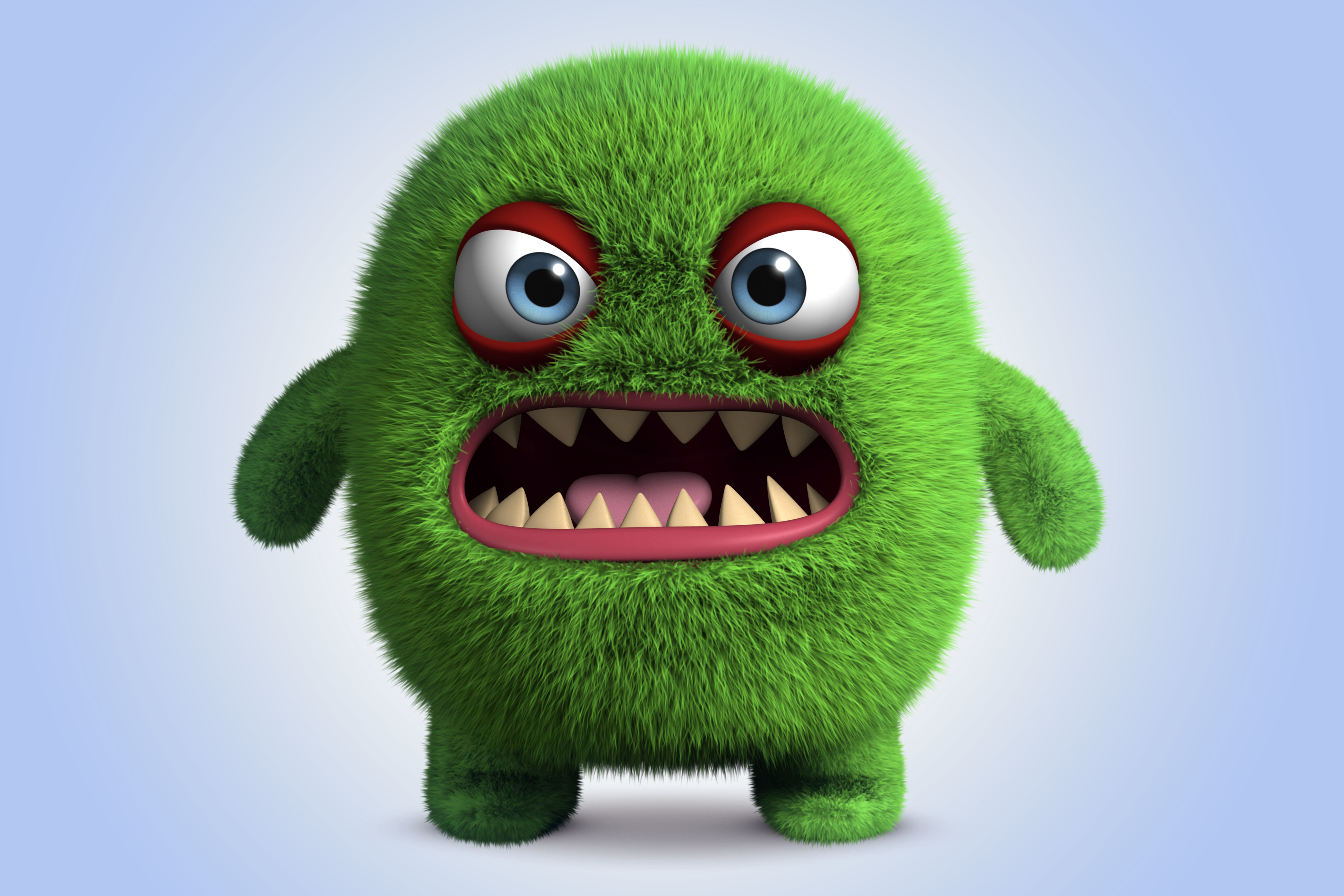 monster cartoon funny cute 3d animated fluffy character angry wallpapers fuzzy rant bad warm desktop already category